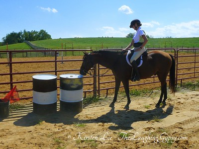 Natural Horsemanship Bravery with Barrels