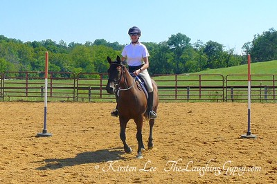 Natural Horsemanship Pole Bending