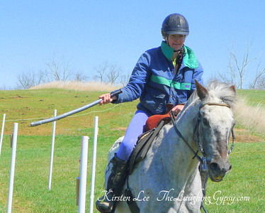 KIrsten and Pierre Pointelle Gallop the Reed Chop